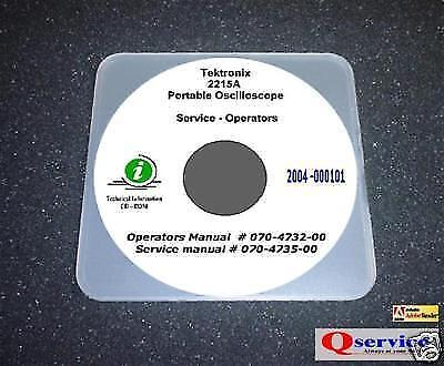 Tektronix Tek 2215a Oscilloscop Service Ops Manual Cd