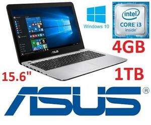 NEW OB ASUS 15.6 LAPTOP PC - 131952984 - COMPUTER NOTEBOOK INTEL I3 4GB MEMORY 1TB HDD WINDOWS 10