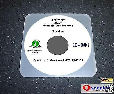 Tektronix Tek 2235a Oscilloscope Service Manual Cd With Complete A3 Diagrams