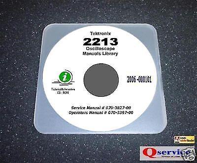 Tektronix Tek 2213 Oscilloscope Service Ops Manual Cd With A3 17x11 Diagrams