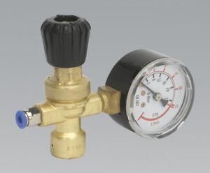 Disposable Cylinder Gas Regulator & Gauge 110 Bar  6Litre/Min = Co2 + Argon