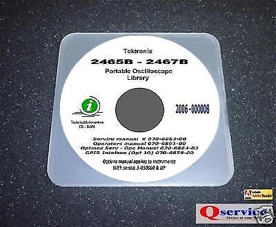 Tektronix Tek 2465b-2467b Serviceopsgpiboptions Hi Resolution Manuals Cd