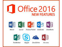MICROSOFT OFFICE PROFESSIONAL SUITE for PC (2016 EDITION)