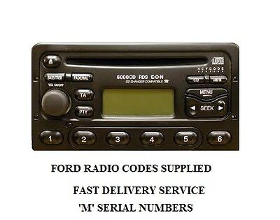 FORD RADIO CODE UNLOCK 3000-4000-5000-6000 CD RADIO LOST CODE? FREE DELIVERY