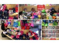 Wholesale Joblot Kids Ladies Shoes Clothes Bags Accessories Toys & Retail Display Business Stall RMU