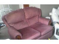 SOFA 2 Seater Stylish. Small Dusky purple/pink