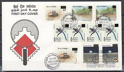 / Sri Lanka, Scott cat. 1512-1516. Surcharged Values issue on a First day cover.