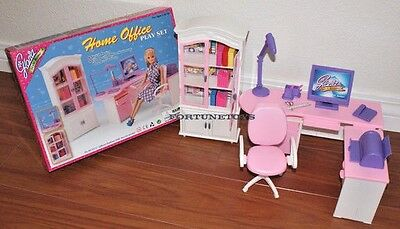 GLORIA DOLLHOUSE Immensity FURNITURE Home Style Office W/ Printer PLAYSET FOR BARBIE