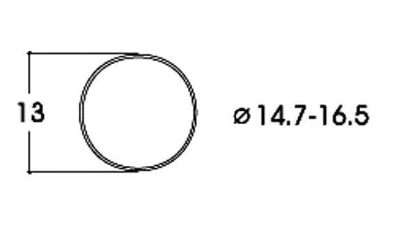 Roco H0 40071 Haftreifen 14,7 - 16,5 mm (10 Stück) NEU + OVP