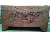 Chinese Carved Camphorwood Trunk