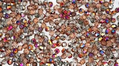 600 Preciosa Czech Glass Round Faceted Fire Polished Beads 3mm Crystal Sliperit