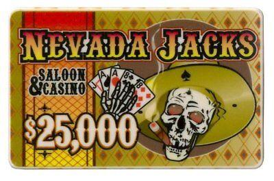 - Nevada Jack 40g High-Roller Ceramic Poker Plaque, $25,000