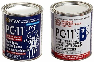 4lbs Dry-wet Pc-11 Epoxy Adhesive Paste Bonds - Two-part Marine Grade 2 Cans