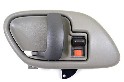 Gray Inner Inside Door Handle with Bezel Left Driver Fits Chevy Pickup Truck
