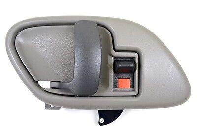 Gray Inner Inside Door Handle with Bezel Left Driver Fits Chevy Pickup Truck