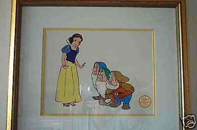 "ORIGINAL DISNEY'S "" SNOW WHITE AND THE DWARFS "" SERIGRAPH FRAMED - READY TO HANG"