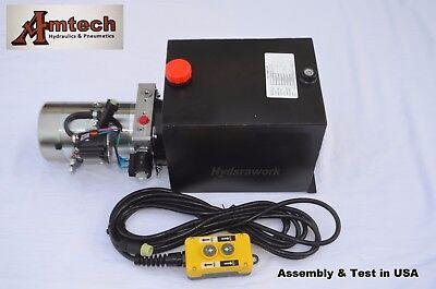3215s Hydraulic Power Unit Hydraulic Pump Single Acting 12v 15qtdump Trailer