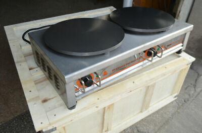 Electric Crepe Maker 16 Inch Griddle Spatula Non Stick Machine Pancake Pan Plate