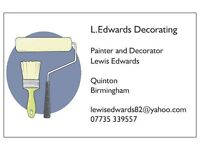 Painter and decorator . self employed. free quotes . Quinton . Birmingham . 18 years exp .