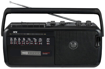 Cyber WEEK Retro AM/FM/SW (shortwave) Radio Portable Cassette Player/Recorder