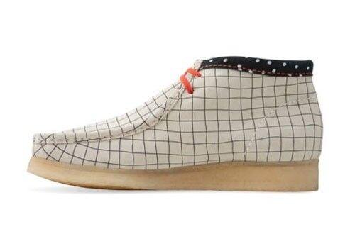 Clarks Originals Men Wallabees Boot Black / White Grid UK 9,10,11 G 1
