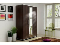 BRAND NEW- 3 Door Tommy Wardrobe with Long Mirror in 4 Colours! SAME/NEXT DAY DELIVERY!