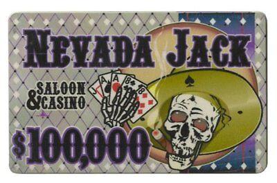 - Nevada Jack 40g High-Roller Ceramic Poker Plaque, $100,000