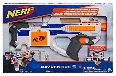 New Nerf Exclusive N-Strike Elite Rayvenfire Motorized Rapid Fire Gun