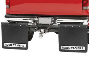 "Rock Tamer Mud Flaps Universal fit 2"" Receiver Hitch Adjustable Removable, 108"