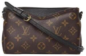 Louis Vuitton Pallas Monogram Black Brown cross body bag