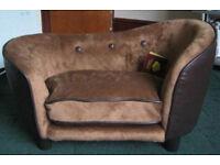 SNOZZZONE Dog Sofa Bed Ultra Plush Bed Brown Small 67x 41x 41cm NEW