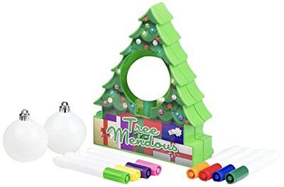 Treemendous Christmas Tree Decorating Kit--Holiday DIY Toy-3 Ornaments Included