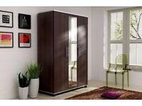 Brand New in original *Tommy Wardrobe 3 Door Full Size Mirrored Black,White,Oak Beech,Wenge Colors