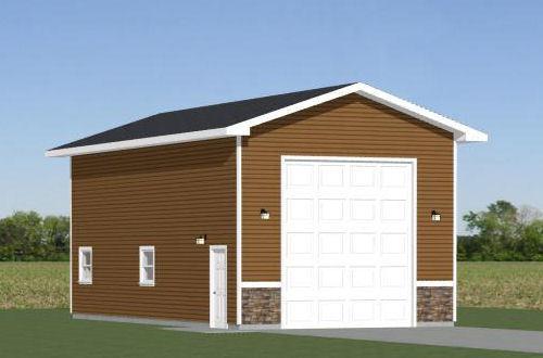 20x40 1-RV Garage -- 800 sq ft -- PDF Floor Plan -- Model 1A