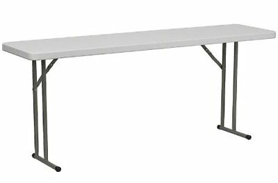 New Flash Furniture 18w X 72l Granite White Plastic Folding Training Table