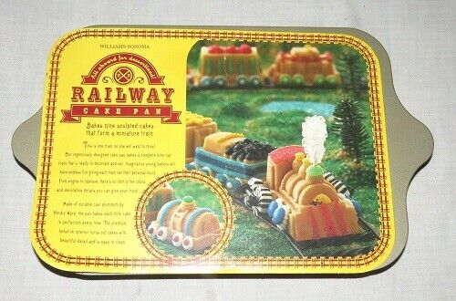 Williams Sonoma Railway Cake Pan 9 Sculpted Cakes That Form A Train Nordic Ware