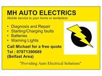 MH AUTO ELECTRICS, 24 HOUR MOBILE AUTO ELECTRICIAN