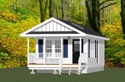 14x28 Tiny House -- 391 sq ft -- PDF FloorPlan -- Model 4A