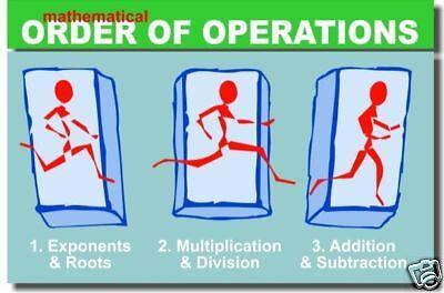 - Math Order of Operations 2 - Classroom Algebra POSTER