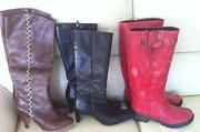 Ladies Leather Boots Size 3