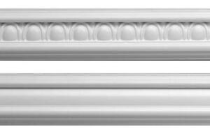 Dado Rail Egg & Dart-White 2.92mtr length x 57mm (Looks like Plaster) Styrene