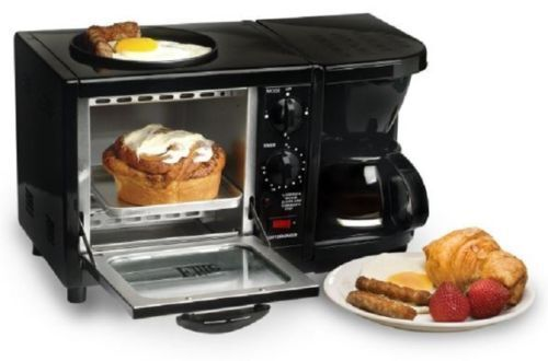 3 In 1 Breakfast Maker Cooks Center Buffet Station Space Sav