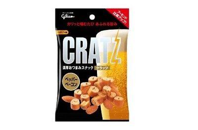 CRATZ Pepper Bacon Black Pepper Almond Mini Pretzel Snack by Glico Japan 42g