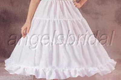 3-HOOP FLOWER GIRL PAGEANT WEDDING GOWN DRESS PETTICOAT SKIRT SLIP SIZE L - Flower Girl Slip