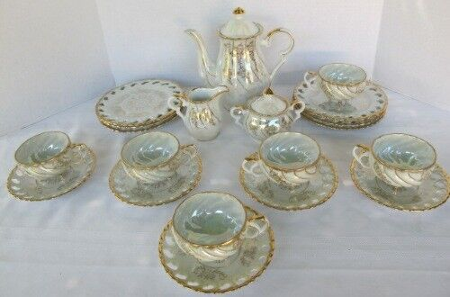 Antique Porcelain Tea Set PETE 22 Pc. Beautiful!