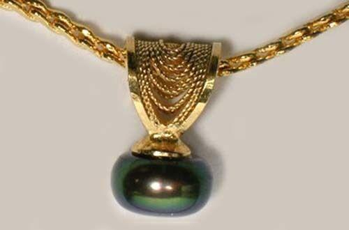 Antique Salt Water Pearl 14ktGF Ancient Shaman Magick Lunar Moon Ocean Gods