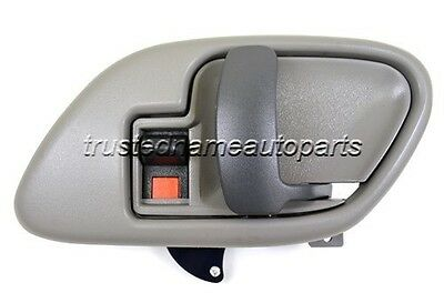 Gray Inner Inside Door Handle with Bezel Right Passenger Fits Chevy Pickup Truck