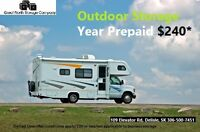 Outdoor RV, Boat, Trailer Storage: Park for a year for $240