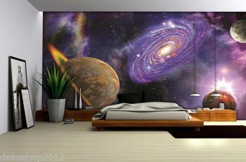 weltraum tapete ebay. Black Bedroom Furniture Sets. Home Design Ideas