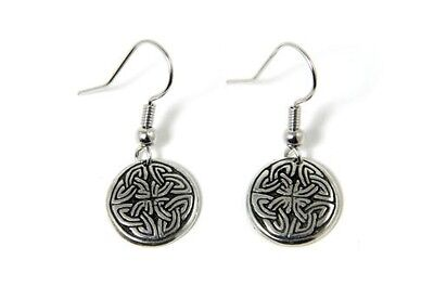 Irish Pewter Cross of Life Earrings